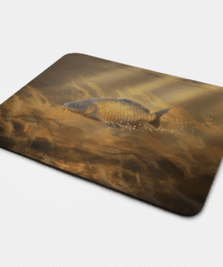 Country Images Personalised Fabric Custom Customised Mousemat Cheap Scotland UK Common Carp Fishing Fish Angler Angling Gift Gifts Ideas