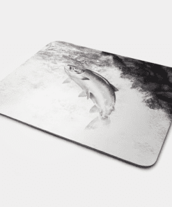 Country Images Personalised Fabric Custom Customised Mousemat Cheap Scotland UK Highland Collection Leaping Salmon Fishing Angling Fisher Angler Gift Gifts Ideas Idea