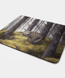 Country Images Personalised Fabric Custom Customised Mousemat Cheap Scotland UK Highland Collection Wildcat Wild Cat Gift Gifts Ideas Idea
