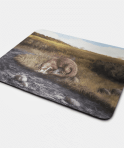 Country Images Personalised Fabric Custom Customised Mousemat Cheap Scotland UK Otter Otters Gift Gifts Ideas