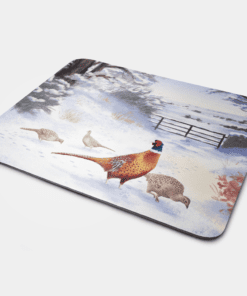Country Images Personalised Fabric Custom Customised Mousemat Cheap Scotland UK Pheasant Pheasants Game Birds Bird Gift Gifts Ideas