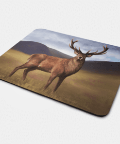 Country Images Personalised Fabric Custom Customised Mousemat Cheap Scotland UK Stag Deer Stags Scottish Highlands Highland Collection Gift Gifts Ideas