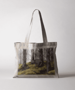Country Images Personalised Highland Collection Scottish Wild Cat Wildlife Cheap Tote Bag Scotland UK