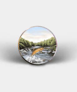 Country Images Personalised Printed Custom Magnet Cheap Highland Collection Leaping Brown Trout Angling Angler Fishing Customised Gift Gifts