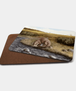 Country Images Personalised Printed Custom Placemats Tablemats Cheap Highland Collection Otter Otters Scotland Scottish Gift Gifts Ideas Tableware (Board)