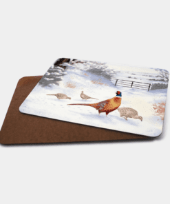Country Images Personalised Printed Custom Placemats Tablemats Cheap Highland Collection Pheasant Pheasants Scotland Scottish Gift Gifts Ideas Tableware (Board)