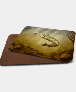 Country Images Personalised Printed Custom Placemats Tablemats Cheap Pike Scotland Scottish Gift Gifts Ideas Tableware Fishing Fisherman Angling Angler (Board)