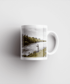 Country Images Personalised Printed Highland Collection Fly Fishing Scotland Design Cheap Mug - 2