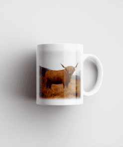 Country Images Personalised Printed Highland Collection Highland Cow Scotland Design Cheap Mug - 2