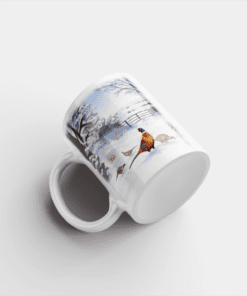 Country Images Personalised Printed Highland Collection Pheasants Scotland Design Cheap Mug - 1