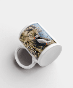 Country Images Personalised Printed Highland Collection Puffin Scotland Design Cheap Mug - 1