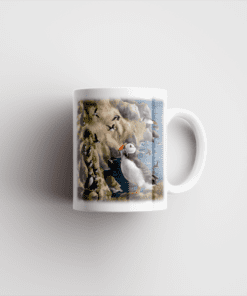 Country Images Personalised Printed Highland Collection Puffin Scotland Design Cheap Mug - 2