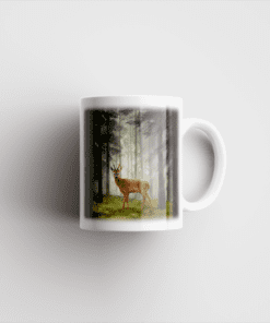 Country Images Personalised Printed Highland Collection Roe Buck Scotland Design Cheap Mug - 2