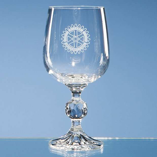 """Engraved """"Claudia"""" Red Wine Goblet"""