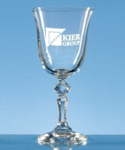 """Engraved """"Laura"""" Red Wine Goblet"""