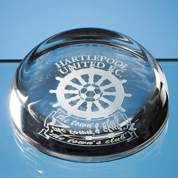 Engraved Sliced Dome Paperweight