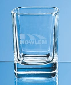 Engraved Square Tot Glass