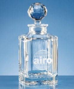 Personalised Engraved Square Spirit Decanter Glass Gift