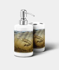 Country Images Personalised Custom Ceramic Bathroom Toothbrush Holder Soap Dispenser Set Sports Sporting Fishing Angling Pike Gift Gifts