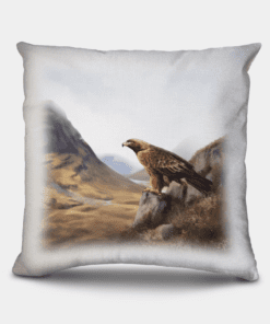 Country Images Personalised Highland Collection Scottish Golden Eagle Cheap Linen Cushion Scotland UK 2