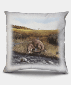 Country Images Personalised Highland Collection Scottish Otter Cheap Linen Cushion Scotland UK 2