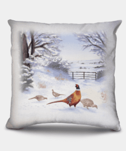 Country Images Personalised Highland Collection Scottish Pheasant Cheap Linen Cushion Scotland UK 3