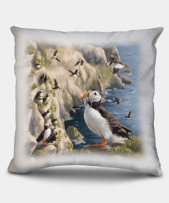 Country Images Personalised Highland Collection Scottish Puffin Cheap Linen Cushion Scotland UK 2