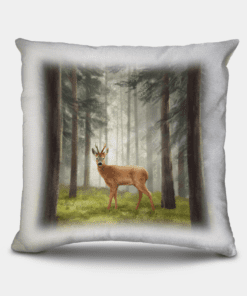Country Images Personalised Highland Collection Scottish Red Deer Roe Buck Cheap Linen Cushion Scotland UK 2