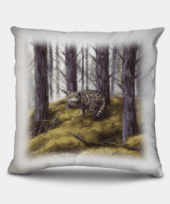 Country Images Personalised Highland Collection Scottish Wildcat Cheap Linen Cushion Scotland UK 2