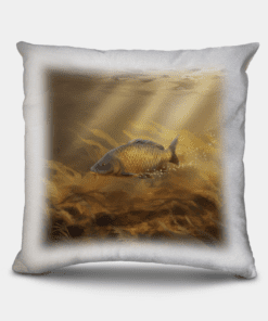 Country Images Personalised Sporting Common Carp Fishing Angling Angler Cheap Linen Cushion Scotland UK 2