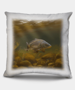 Country Images Personalised Sporting Mirror Carp Fishing Angling Angler Cheap Linen Cushion Scotland UK 2
