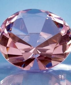 """Engraved Pink """"Diamond"""" Paperweight"""