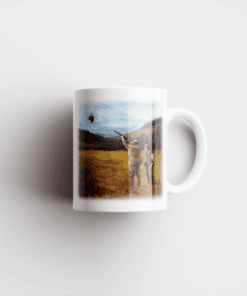Country Images Personalised Printed Clay Pigeon Shooting Scotland Design Cheap Mug - 2