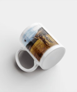 Country Images Personalised Printed Clay Pigeon Shooting Scotland Design Cheap Mug - 3