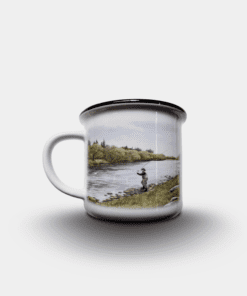 Country Images Personalised Custom Printed White Black Mug Scotland Cheap Highland Collection Fly Fishing Angling Angler Gift Gifts 2