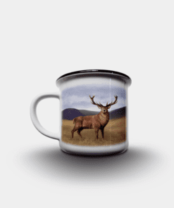 Country Images Personalised Custom Printed White Black Mug Scotland Cheap Highland Collection Stag Stags Deer Wildlife Gift Gifts 2
