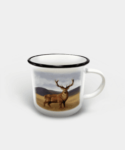 Country Images Personalised Custom Printed White Black Mug Scotland Cheap Highland Collection Stag Stags Deer Wildlife Gift Gifts