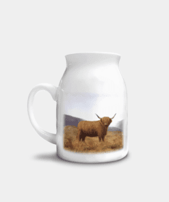 Country Images Personalised Highland Collection Printed Custom Milk Jug Highland Cow Wildlife Scotland 2