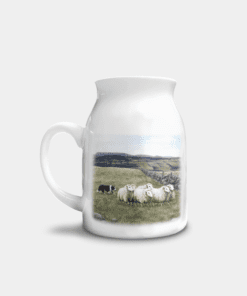 Country Images Personalised Highland Collection Printed Custom Milk Jug Sheep and Sheepdog Wildlife Scotland 1