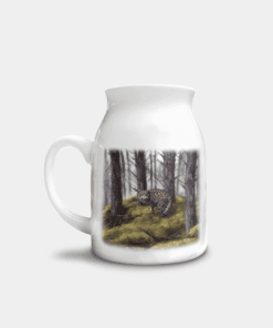 Country Images Personalised Highland Collection Printed Custom Milk Jug Wildcat Wild Cat Wildlife Scotland 1
