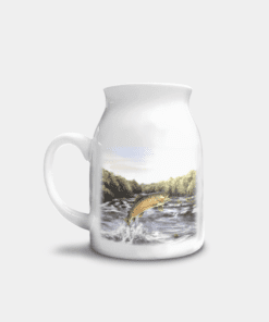Country Images Personalised Printed Custom Milk Jugs Leaping Brown Trout Fishing Angler Angling Gift Gifts Ideas 3