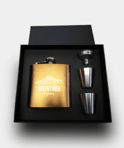 Country Images Personalised Copper Custom Engraved Hipflask Hip Flask Flasks Cheap Scotland UK Box Set Boxed Adventurer Logo
