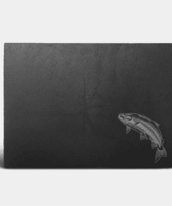 Country Images Scotland Custom Personalised Slate Placemats Place Mat Placemat Table Engraved Scottish UK Salmon Fishing Angling Gift Gifts Idea