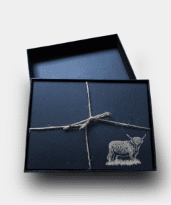 Country Images Scotland Custom Personalised Slate Placemats Place Mat Placemat Table Tablemats Engraved Scottish Box Set Highland Cow