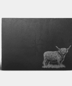 Country Images Scotland Custom Personalised Slate Placemats Place Mat Placemat Table Tablemats Engraved Scottish UK Highland Cow Hairy Coo