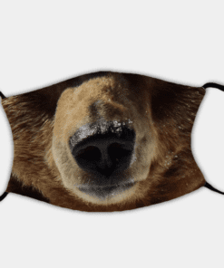 Country Images Personalised Custom Face Mask Masks Facemask Facemasks UK Scotland Gifts Brown Grizzly Bear