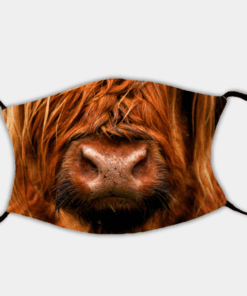 Country Images Personalised Custom Face Mask Masks Facemask Facemasks UK Scotland Gifts Highland Cow