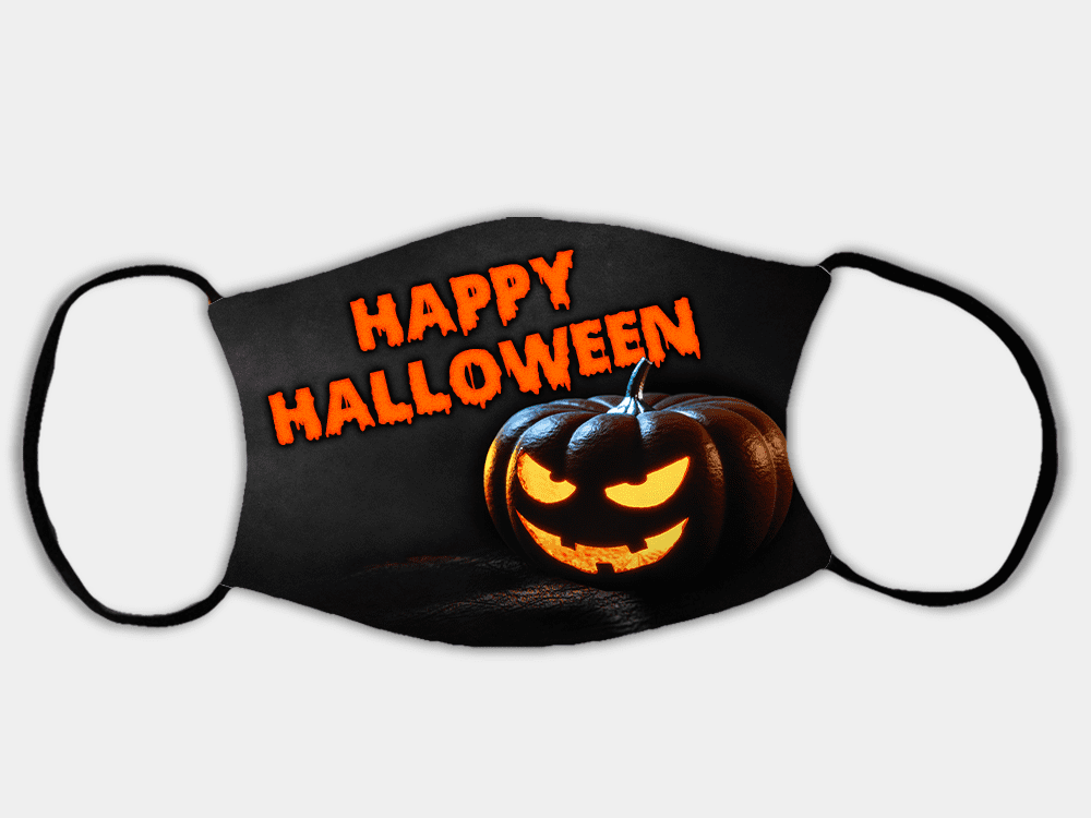 Country Images Personalised Custom Face Mask Masks Facemask Facemasks UK Scotland Gifts Happy Halloween